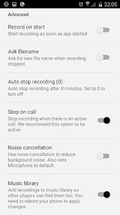 ASR Free MP3 voice recorder Screenshot