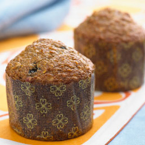 Low Fat Blueberry Bran Muffins