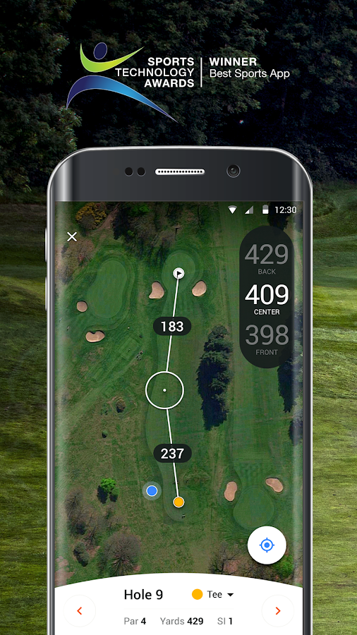 how to read golf courses maps gps