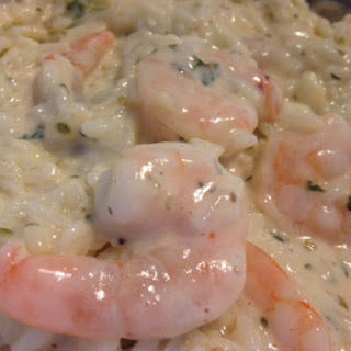 Creamy GARLIC BUTTER SHRIMP SCAMPI and RICE