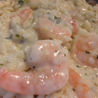 Creamy GARLIC BUTTER SHRIMP SCAMPI and RICE.