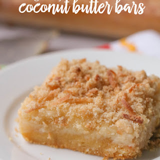 Gooey Coconut Butter Bars