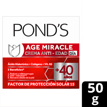 CREMA PONDS AGE MIRACLE   DÍA FPS 15  X50ML
