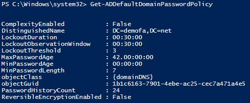Auslesen der Password Policy mit PowerShell  - Richtlinien Passwortgenerierung
