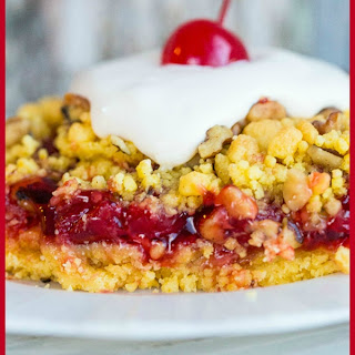Lemon Cherry Crunch Cake.