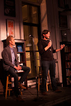 Photo: The Minimalists speaking in NYC (photo by Spyr Media)