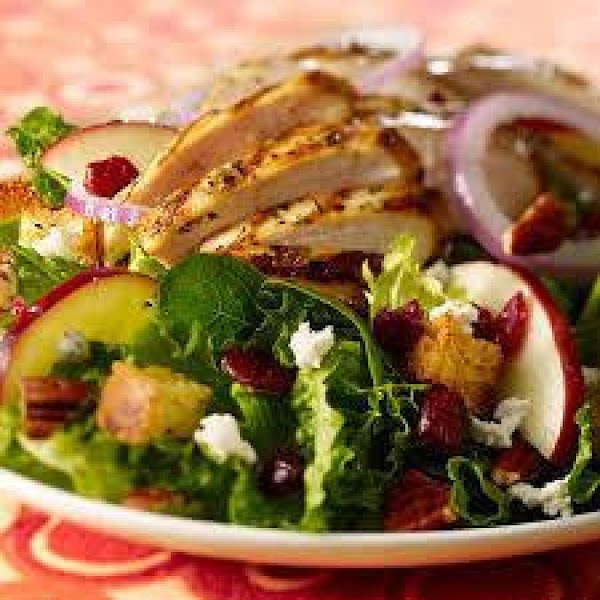 Apple Pecan Grilled Chicken Dinner Salad Recipe