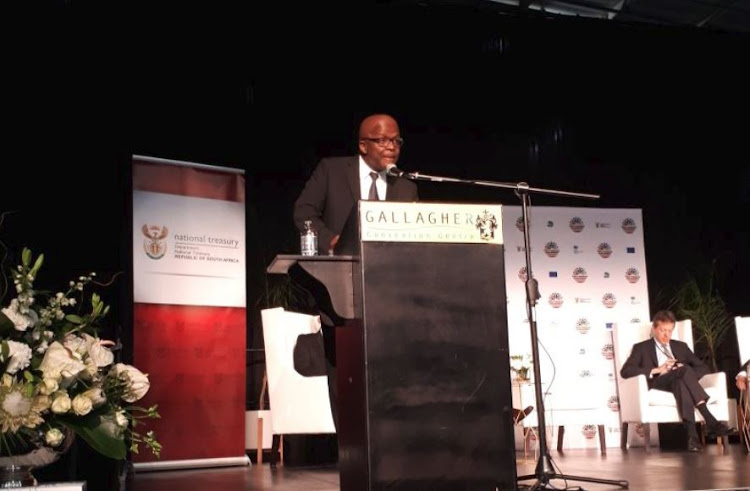 Deputy Minister Mondli Gungubele addressing the National Treasury's Public Financial Management Conference.