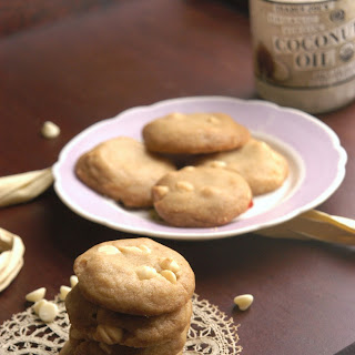 White Chocolate Coconut Oil Cookies