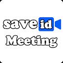 Save meeting ID icon