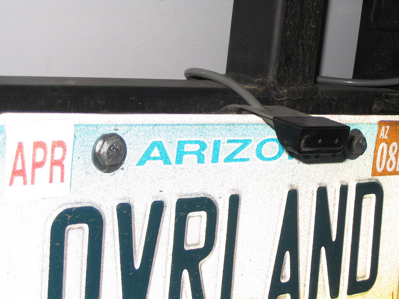 License Plate With Third Brake Light