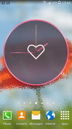 Pink Love Clock Widget 5.5.1 screenshot 1568929