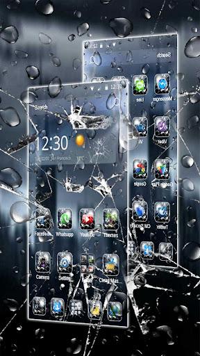 3D Rain Broken Glass Theme 1.3.19 3