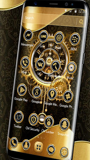 Download Clock Luxury Gold Theme on PC & Mac with AppKiwi