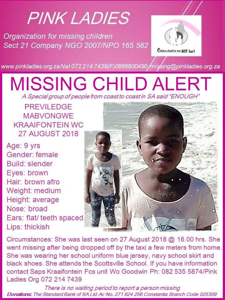 Discovery of 9-year-old's body fuels Cape Town's horrific