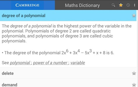 Maths Dictionary(Xhosa) v1.0