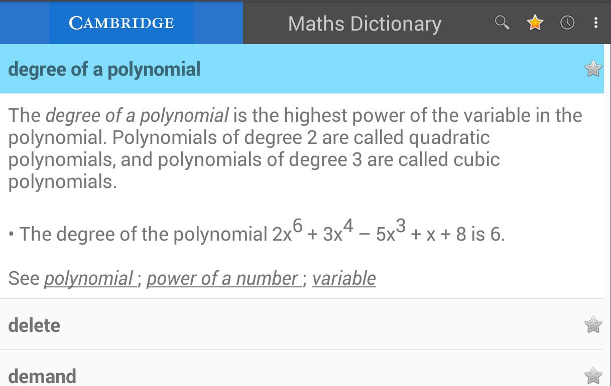 Maths Dictionary(Xhosa)- screenshot
