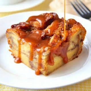 Cinnamon Roll Bread Pudding.