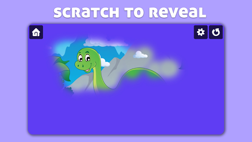 Dinosaur Scratch & Color for kids & toddlers  screenshots 1