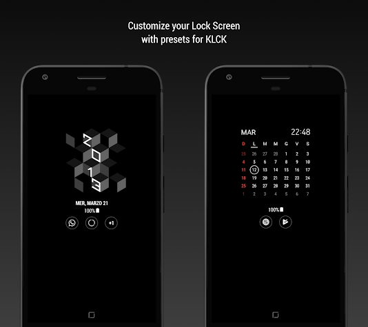 S9 for Kustom: Widget, Lockscreen & Wallpapers Screenshot
