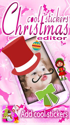 クリスマスのフォトエディタ