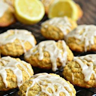 Glazed Lemon Vanilla Oatmeal Cookies