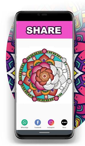Mandala Coloring Book for Free screenshot 6