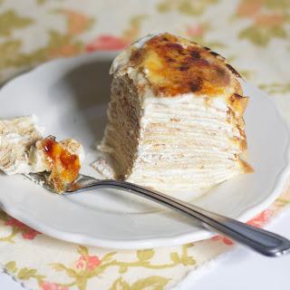 Creme Bruleé Crepe Cake.