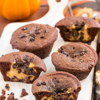 Chocolate Pumpkin Cheesecake Muffins