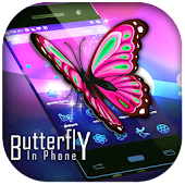 Real 3D Butterfly in Screen