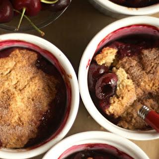 Cherry Cinnamon-Biscuit Cobbler.
