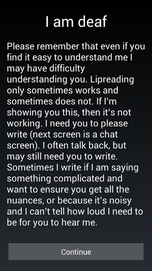Emergency chat- screenshot