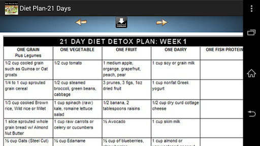 Diet Plan - 21 Days