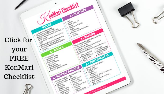 Click for KonMari Checklist
