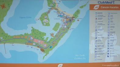 Photo: #003-Le plan du Club Med Cancún Yucatán.