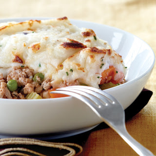 Shepherd's Pie with Buttermilk-Chive Mashed Potato Crust.