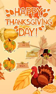 (FREE) GO SMS HAPPY THANKSGIVING THEME - náhled