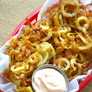 Crispy Baked Curly Fries.