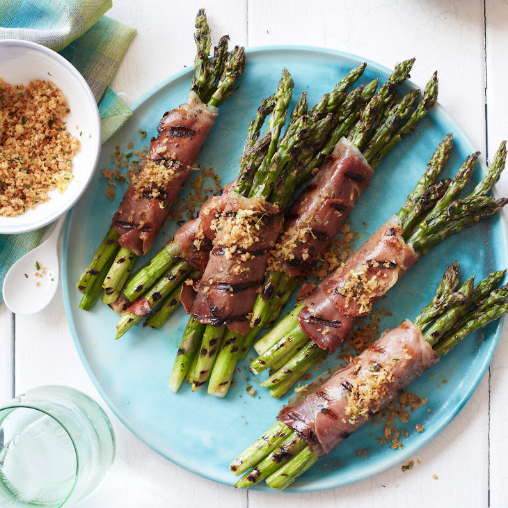 Prosciutto-Wrapped Asparagus with Lemony Bread Crumbs Recipe