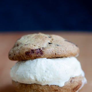 Vanilla Ice Cream and Chocolate Chip Cookie Sandwich