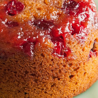 Cranberry Gingerbread Upside Down Cakes