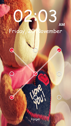 android Teddy Bear Pattern-Bildschirm Screenshot 15