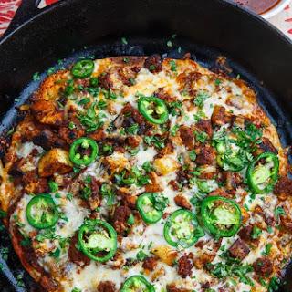 Crispy Chorizo and Potato Tortilla Skillet Pizza Recipe