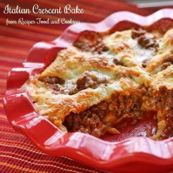 Italian Crescent Bake Casserole Recipe