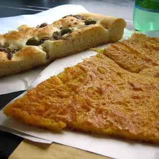 An Italian Chickpea Flour Savory Pancake.