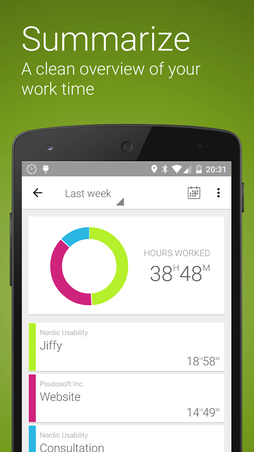Jiffy - Time tracker- screenshot