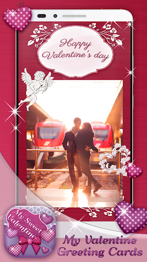 バレンタインデーのグリーティングカード