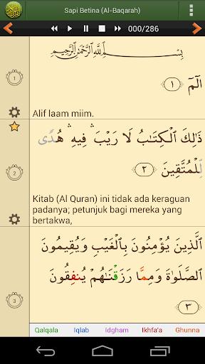 Screenshot for Al'Quran Bahasa Indonesia PRO in Hong Kong Play Store