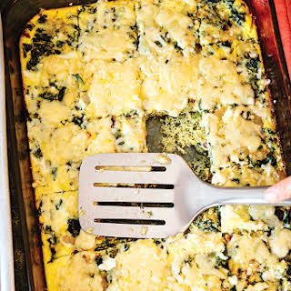 Bacon, Spinach, and Fromage Blanc Frittata.