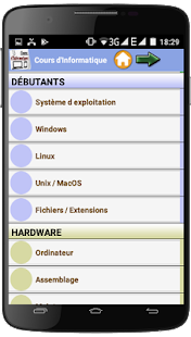 Cours d'informatique- screenshot thumbnail